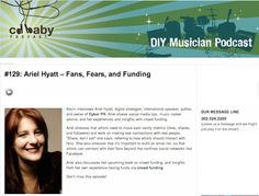 Ariel Hyatt  featured on the CD Baby Podcast! On Fears, Fans, and Funding!