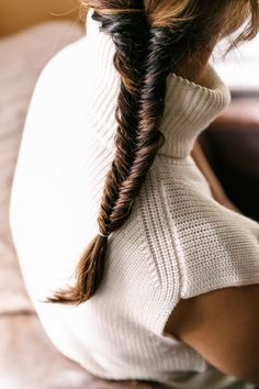 { Braid + high neck sweater }
