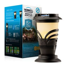 The Thermacell Mosquito Repeller Lexington Torch effectively repels mosquitoes, black flies, and other biting insects by creating a 15 x 15-foot zone of protection for bug-free comfort. With an ambient light and decorative, flickering design. Comes in torch and lantern styles!