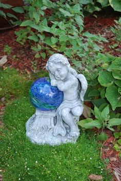Echo Valley 4152 Lunalite Sleeping Cherub by Echo Valley. $34.95. Measures 7-inch length by 15.25-inch by 7-inch width. LunaLite Sleeping Cherub. Luminescent crystals inside the globe absorb the suns energy by day, emit a soothing green glow after dusk. Holds 6-inch gazing globes with or without a stem. Solar powered. This lunalite sleeping cherub is solar powered. Luminescent crystals inside the globe absorb the suns energy by day, emit a soothing green glow after dusk. UV li...