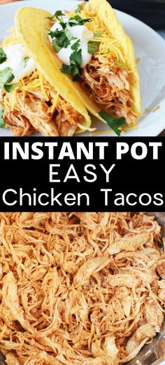 The easiest way to make shredded chicken tacos is in your Instant Pot. This easy chicken taco recipe is perfect for a pressure cooker beginner. Make a big batch for easy leftovers. # Food and Drink chicken Instant Pot Chicken Tacos Best Instant Pot Recipe, Instant Recipes, Instant Pot Dinner Recipes, Chicken Recipe Instant Pot, Recipes Dinner, Taco Diner, Le Diner, Chicken Taco Recipes, Crockpot Chicken Tacos