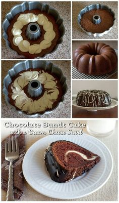 Choclate Bundt with chesse