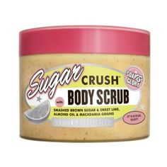 Soap and Glory Sugar Crush Body Scrub 300ml ($9.90) ❤ liked on Polyvore featuring beauty products, bath & body products, body cleansers and beauty