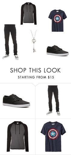 """""""Eren's style"""" by kchouse ❤ liked on Polyvore featuring Vans, Hot Topic, James Perse, Old Navy and Vivien Frank Designs"""