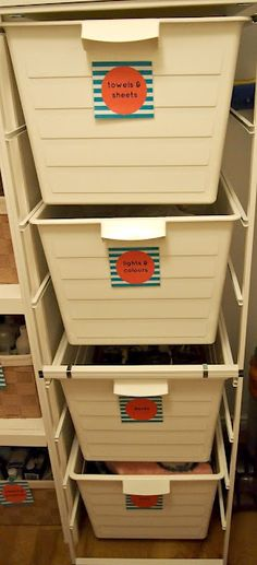 Consider a unit with separate baskets to sort your washing out. Further information over at Utterly Organised blog