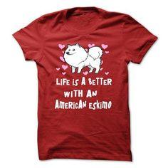 American Eskimo Dog T Shirts, Hoodies. Check price ==► https://www.sunfrog.com/LifeStyle/American-Eskimo-Dog-34424526-Guys.html?41382