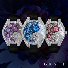 Introducing Graff Floral. Enamel painting, micro-painting and intricate diamond setting within one extraordinary timepiece.  #baselworld2018 #graffdiamonds