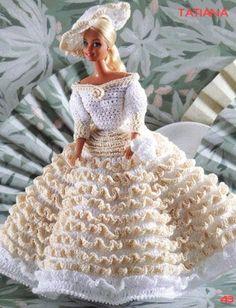 labores de esther. todo para barbie: Vestido Tatiana de Barbie