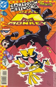 Cartoon Network Presents (1997) 4 Comic book cover art dexter's laboratory dial m for monkey