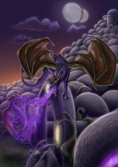Spyro In His Element by JazzTheTiger.deviantart.com on @deviantART