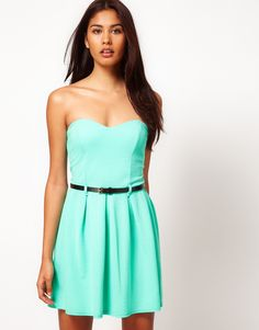 YES. Strapless dress in mint.