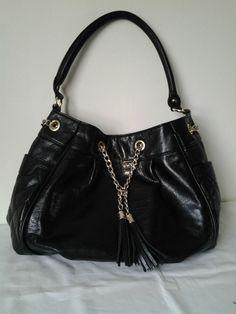 Black Patent Per Una Handbag