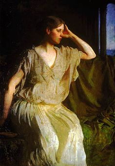 Woman in a Grecian Gown, Abbott Thayer   por Painter's Reference