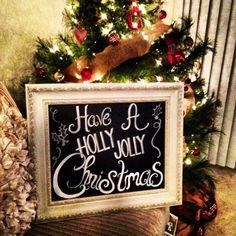 Holly Jolly Christmas Chalkboard Sign