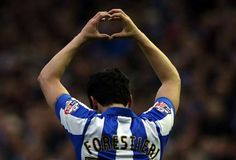 Fernando Forestieri shows his love for the fans