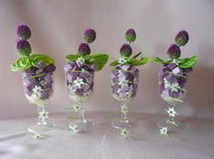 Anthurium & Allium wine glasses.