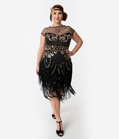 Find plus size flapper dresses, plus size gatsby dresses, plus size flapper costumes and plus size dresses with sleeves, long or short lengths in day and evening styles. Plus Size Cocktail Dresses, Plus Size Dresses, Plus Size Outfits, Gatsby Dress Plus Size, Plus Size Flapper Costume, Flapper Girl Costumes, Gatsby Costume, 1920s Bridesmaid Dresses, Bride Dresses