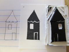 carved house stamp   day 5 of 30 days of creativity #30Doc @createstuff