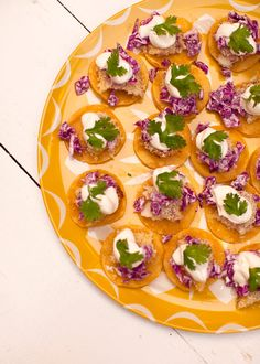 Mini Fish Tacos by @Elyse Woodbury Pehrson Larson of A Beautiful Mess