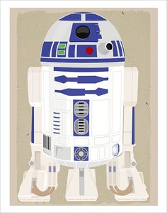 Starwars poster - Star Wars r2d2 poster - 11x14 print - Star Wars movie print - Boys room decor via Etsy