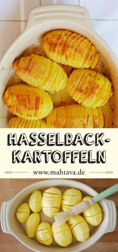 Swedish cuisine: Hasselback potatoes (Hasselbackspotatis - Recipes to cook - Rezepte Hasselback Potatoes, Potato Dishes, Potato Recipes, Easy Dinner Recipes, Easy Meals, Dessert Recipes, Swedish Cuisine, Vegetarian Recipes, Gourmet