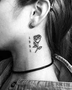 Black Rose Tattoo Tatuaje rosa. DobleC Tattoo Linework, Blackwork.