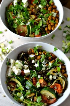 Rated chickpea and kale vegan bowl