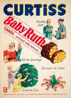 Curtiss Baby Ruth Candy Bar 1952 Ad