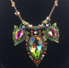 Betsey Johnson Rare Crystal statement necklace USA SELLERFREE GIFT  #BetseyJohnson #Bib