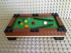 Lego Pool Table Green 8 Ball Billiards City Stick Town Sports Bar Tournament $