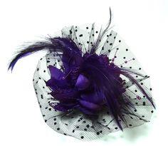 Purple Fascinator. #Fascinator #Headpiece #Purple - Sold Out