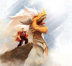 "lovebonbe: "" Gems with their Dragons. (OMG, jasper look like ""The Dragon King"" """
