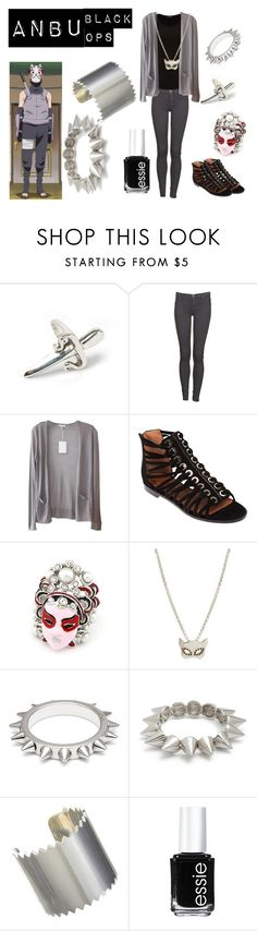 """ANBU Black Ops"" by casualanime ❤ liked on Polyvore featuring LeiVanKash, Dr. Denim, Clu, Givenchy, Zoe & Morgan, Maria Francesca Pepe, GUESS, Juan Carlos Obando, Essie and anbu"
