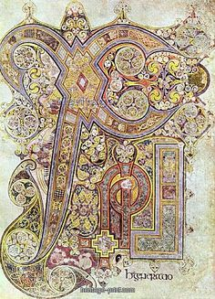 The Chi Rho page from the Book of Kells, created around the year 800