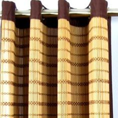 Bamboo is another outdoor option, hung from a grommet top panel. Drapery, Curtains, Cool Ties, Indoor Outdoor Living, Tie Backs, Mocha, Accent Decor, Bamboo, Fun