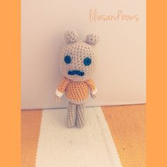 Mr Gustavo! Handmade crochet doll by lilies and bows