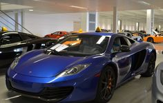 2012 McLaren MP4-12C in Azure Blue