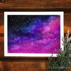 Watercolor Galaxy @sabeldesigns  #painting #universe #watercolor #galaxy