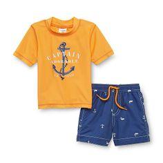 Carter's Anchors & Whales Shirt & Swim Shorts -