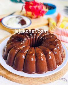 Pudding Desserts, Pudding Recipes, Chocolate Panna Cotta, Gelatin, Diy Food, Doughnut, Jelly, Deserts, Vanilla
