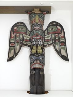 """Collections - SAM - Seattle Art Museum """"Scow family house posts"""""""