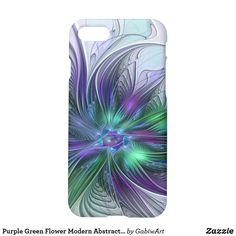 Purple Green Flower Modern Abstract Art Fractal iPhone 8/7 Case