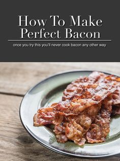 I'm never cooking bacon any other way ever again. This is the best way to cook bacon. Bacon Recipes, Brunch Recipes, Breakfast Recipes, Cooking Bacon, Cooking Recipes, Cooking Tips, Cooking For Dummies, Best Bacon, Good Food