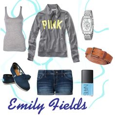 Emily Fields  Preppy, Low-Key Look  Created by HarlowGray on Polyvore