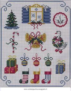 natale_misti2_21 schema punto croce gratis Cross Stitch Christmas Ornaments, Xmas Cross Stitch, Christmas Embroidery, Christmas Cross, Counted Cross Stitch Patterns, Cross Stitch Charts, Cross Stitch Designs, Cross Stitching, Cross Stitch Embroidery