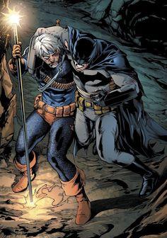 Deathstroke and Batman Batman Artwork, Batman Comic Art, Batman And Superman, Marvel Dc Comics, Dc Comics Heroes, Dc Comics Characters, Dc Comics Art, Dc Deathstroke, Deathstroke The Terminator