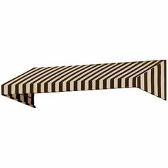 New Yorker Slope Rigid Valance Awning, Brown