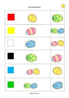 * Knijpkaart: Pasen, Zoek hetzelfde ei! 1-2