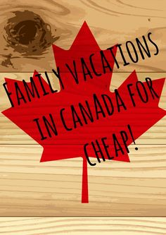 You can pack your family and take cheap family vacations in Canada. Check out a few of our favorite ideas to get you started on your dream getaway! (Favorite In Family) Cheap Family Vacations, Vacations To Go, Travel With Kids, Family Travel, Summer Travel, Family Trips, Visit Canada, Canada Eh, Canada Travel