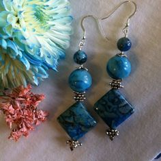 Hey, I found this really awesome Etsy listing at https://www.etsy.com/listing/285633423/aqua-crazy-lace-agate-earrings-modern